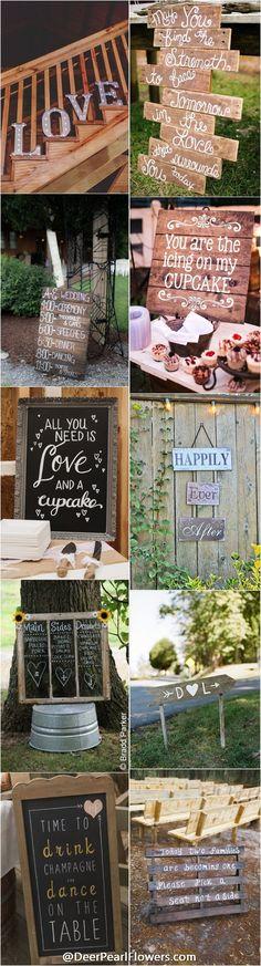 http://www.deerpearlflowers.com/30-rustic-wedding-signs-ideas-for-weddings/