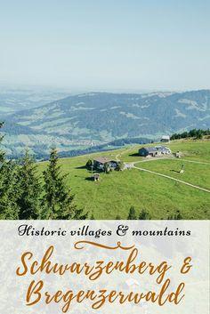 A visual tour through a picturesque village in Bregenzerwald/Vorarlberg (Austria) with great views of the alps