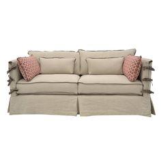 Quatrine Slipcovered Chateau Sofa With Arm Ties
