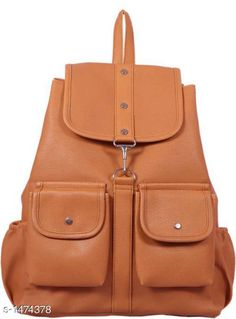 Checkout this latest Bags & Backpacks Product Name: *Elegance PU Unisex Backpack* Sizes: Free Size Easy Returns Available In Case Of Any Issue   Catalog Rating: ★4.1 (519)  Catalog Name: Myhra Elegance PU Unisex Backpacks CatalogID_191414 C65-SC1234 Code: 703-1474378-855