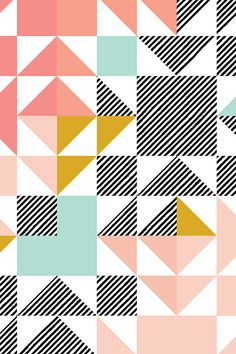 Colorful fabrics digitally printed by Spoonflower - puzzle wholecloth // blush + mustard + diagonal stripe - - Add a pop of pattern with unique fabric, wallpaper & gift wrap. Geometric Pattern Design, Graphic Patterns, Surface Pattern Design, Geometric Designs, Geometric Art, Pattern Art, Print Patterns, Fun Patterns, Modern Patterns