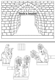 Intocht in Jeruzalem; Yeshua's Triumphal, Humble Entry into Jerusalem at Passover.