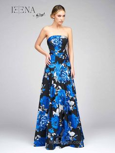 Be on trend and make a fashion statement at your next event in the Strapless Dropped Waist Floral Gown by Mac Duggal. This gorgeous gown includes a strapless neckline, a dropped waist and a pleated ball gown, creating a show stopping silhouette. Affordable Bridesmaid Dresses, Designer Bridesmaid Dresses, Designer Dresses, Sweetheart Bridal, Fancy Gowns, Floral Gown, Pageant Gowns, Different Dresses, Mac Duggal