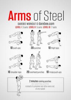 Entrenamiento Hombros, Biceps & Pectorales