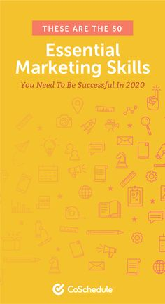 50 Essential Marketing Skills You Need to Be Successful in 2020 Content Marketing Strategy, Marketing Tools, Social Media Marketing, Marketing Calendar, Entrepreneur, Success, Study, Studio, Learning