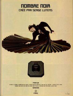 SERGE LUTENS Nombre Noir, Shiseido advertising, 1982