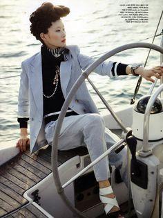 "Hyun Yi Lee in ""Bon Voyage"" by Bo Lee for Vogue Korea May 2010"