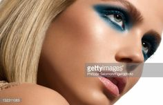 Model poses at a beauty shoot for Madame Figaro on March 2, 2009 in Paris, France. Published image. Figaro ID#: 083725-008. Make-up by Yves Saint Laurent.