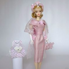 "OOAK Handmade Vintage Barbie Silkstone Fashion by Roxy "" Pink Parfait "" 13 Pcs | eBay"