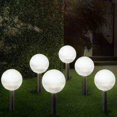 Led Lampen Fur Den Garten Aus Der Ganzen Welt Von Luxus 6er Set Solar Garten Led Leuchte Lampe Beleuchtung Dekoration Durchgeh Led Lampe Betonlampe Alte Lampen