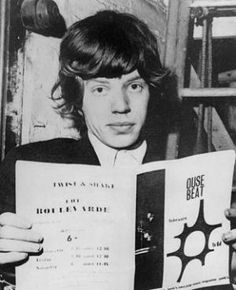 Mick Jagger reads.