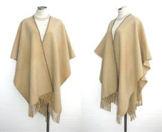 1970s wool serape poncho cape shawl by BreesVintageRevivals, $79.00