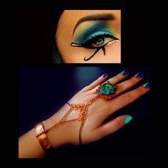 Boho bracelet hand bracelet druzy ring by CindersJewelryDesign
