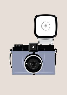 Vintage Camera illustrated art print by apalelandscape on Etsy, £15.00