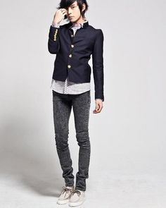 Mens Denim Jacket Denim Pockets Button Zippers Pencil Men Jeans Discount Online Shopping