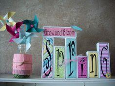 Spring shelf by Summer of summerscraps.blogspot.com