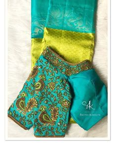 All Ethnic Customization with Hand Embroidery & beautiful Zardosi Art by Expert & Experienced Artist That reflect in Blouse , Lehenga & Sarees Designer creativity that will sunshine You & your Party Worldwide Delivery. Cutwork Blouse Designs, Wedding Saree Blouse Designs, Pattu Saree Blouse Designs, Fancy Blouse Designs, Blouse Patterns, Wedding Blouses, Wedding Sarees, Stylish Blouse Design, Indiana