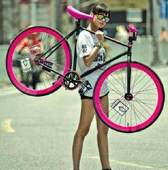 Hot pink bike - KB bike! love it!
