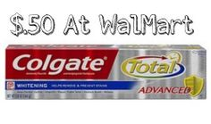 Make sure to get the coupon for$2 off Colgate productsand get some toothpaste for $.50.