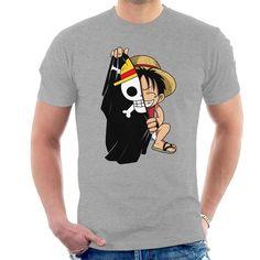 Shop Monkey D Luffy Flag One Piece Men's T-Shirt by PsychoDelicia. One Piece Man, One Piece Luffy, Monkey D Luffy, Tee Shirt Homme, T Shirt, Cloud City, Mens Tees, Flag, Mens Fashion