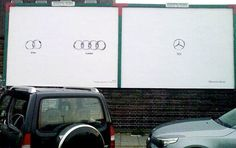 Mercedes vs Bmw vs Audi: Which ads are more creative?