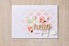 Want a soft background?  Use a sponge dauber rather than a Stampin' Spritzer with your decorative masks.  No need to cover the entire card either, just create a focal point.