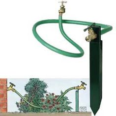 Faucet Extender No walking over plants or reaching into shrubs to turn