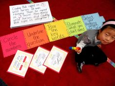 First Grade Wow: Math Thinking Patterns and CUBES strategy 1st Grade Math, Fourth Grade, First Grade, Grade 1, Cubes Math Strategy, Math Strategies, Math Story Problems, Word Problems, Math Classroom