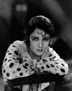 Silent movie star Norma Talmadge - The cat eye make up came way before the 1950's