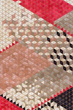 wooden table runner | pattern | ELISA STROZYK