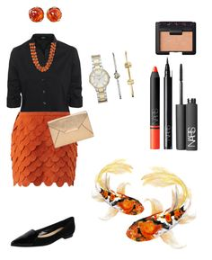 """""""Untitled #90"""" by campanellinoo on Polyvore featuring Steffen Schraut, sass & bide, Butter Shoes, MICHAEL Michael Kors, FOSSIL, Yves Saint Laurent, Towne & Reese and NARS Cosmetics"""