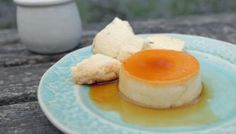 BBC - Food - Recipes : Lavender crème caramel with lavender shortbread