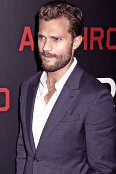 Jamie Dornan on the red carpet for the Anthropoid premiere in NY - 4 August 2016 Jamie Dornan, Christian Grey, Fifty Shades Of Grey, 50 Shades, Mr Grey, Raining Men, Famous Men, Dakota Johnson, Hairy Men