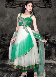Buy salwar suits for weddings online on Utsav Fashion. Shop from a wide range of latest designer suits for wedding available in striking colors & luxurious fabrics. Fashion Wear, Fashion Dresses, Ladies Fashion, Best Wedding Suits, Wedding Wear, Women Salwar Suit, Pakistan Fashion, Anarkali Suits, Long Anarkali