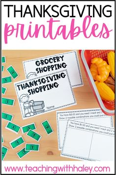 Thanksgiving activities from writing, flipbooks, printables, and more by Teaching with Haley. This packet is full of activities perfect for your little ones to use in the days and weeks leading up to Thanksgiving or during fall/autumn. In this packet, you will find 2 versions (regular lines and handwriting lines). Learn more about the different themed worksheets from all about pilgrims, Native Americans, and turkeys. While learning valuable skills such as word search and story problems.