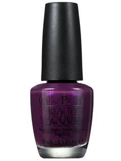 This purple OPI nail polish has just the right amount of sparkle.