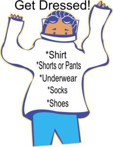 Chore: Get Dressed Clip Art