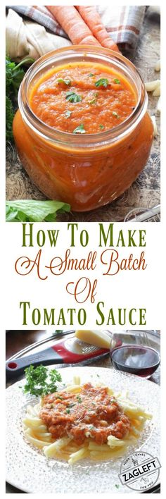 Easy recipe for a small batch of tomato sauce. Quick, easy and full of flavor. For other single serving recipes visit zagleft.com