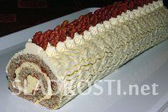 Roláda s vanilkovým krémem Albanian Recipes, Albanian Food, Swiss Cake, Christmas Treats, Food Hacks, Nutella, Yummy Treats, Cooking Recipes, Desserts