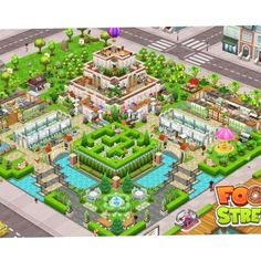 #FoodStreetGame Food Street Game, Hay Day, Isometric Art, Sims House, Restaurant Design, Game Design, Layout, Games, Pictures