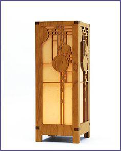 Frank Lloyd Wright Coonley Playhouse Mini Lightbox Accent Lamp