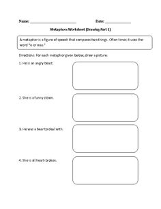 figures of speech worksheets grade 9