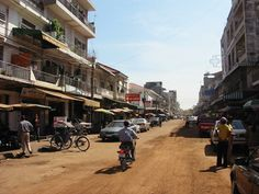 out in the street at Phnom Penh