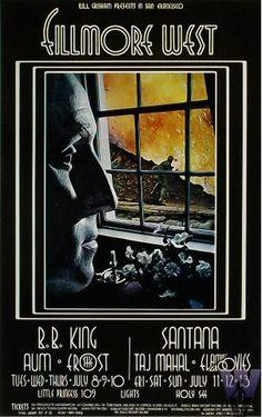 Bill Graham presents: B.B. King and Santana. Fillmore West