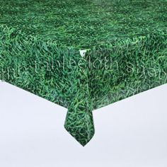 GRASS VINYL WIPE CLEAN TABLECLOTH TABLE COVER 2.6M
