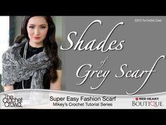 Crochet the Shades of Grey Scarf Tutorial