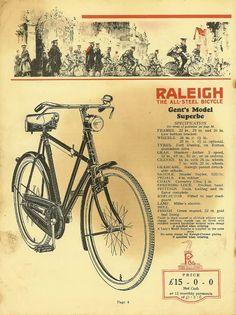 Raleigh biciclette datazione
