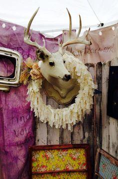 Christmas Deer! Vintage Lillies show booth. Fall 2014