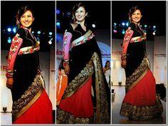 #DivyankaTripathi Georgette Zari Work #Pink #Bollywood Style #Saree   #bridal #fashion #style #desi #designer #wedding #gorgeous #beautiful #StayTrendyWithIndiaRush #StayTrendy