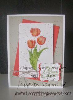 Easter Tulip card, Heidi@Stampin King